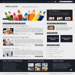 Brilliante Website Layout in Photoshop