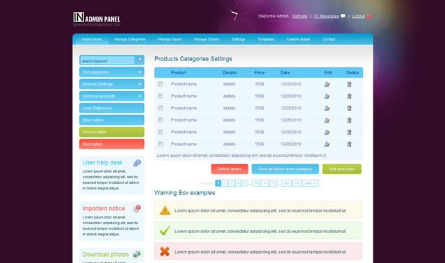 10 Free CSS and HTML Admin and Backend Templates
