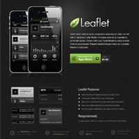 Design a Sleek, Dark Mobile App Website