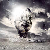 Design a Surreal Style Desert Human Stone Statue Manipulation in Photoshop