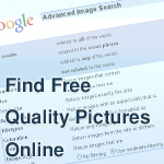 How to Find Free Quality Pictures Online