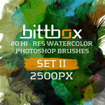 38 Watercolor Photoshop Brush Sets (950 Brushes)