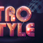 Create Abstract Shining Text Effect with Groovy Font in Photoshop
