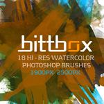 34 Free Watercolor and Artistic Photoshop Brush Sets