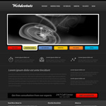 How to create a sleek dark website layout