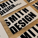 50 Typographic Business Card Designs