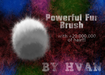 15 Sets of Free Fur Photoshop Brushes