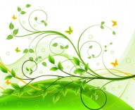 green-floral-background