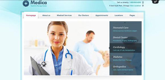 Medical Hospital Website Design