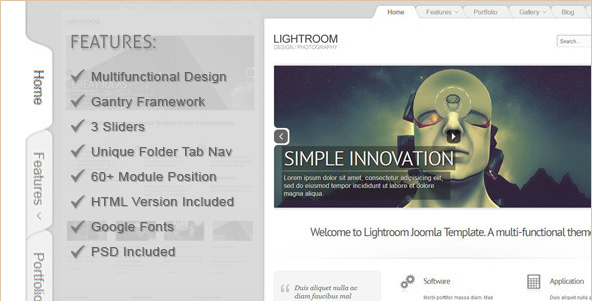 Lightroom - Premium Joomla 2.5 Template