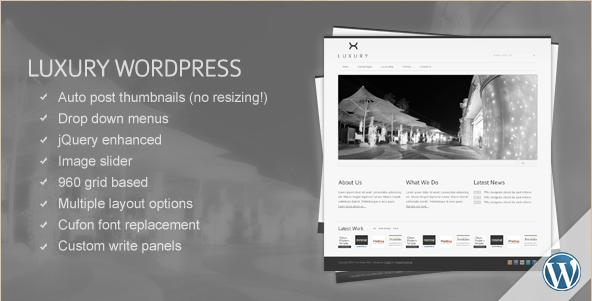 Luxury - WordPress Business Template