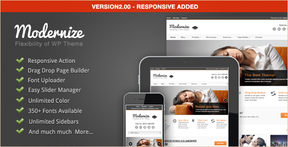 Modernize - Flexible WordPress Theme