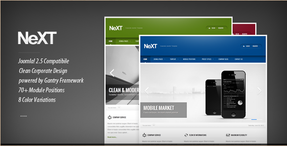 NeXT - Corporate Joomla! Template