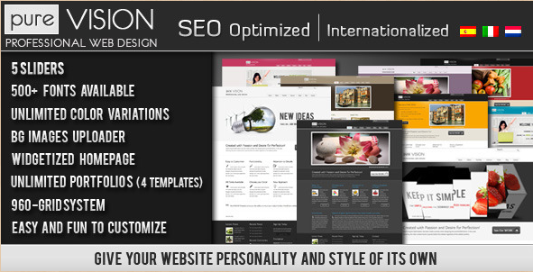 PureVISION - Professional WordPress Theme