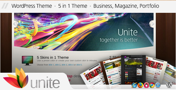 Unite - WordPress Magazine Business Theme