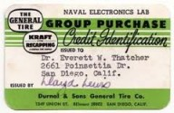 Vintage Paper Credit Card