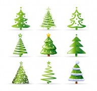4-Christmas-Tree-Collection-Vector