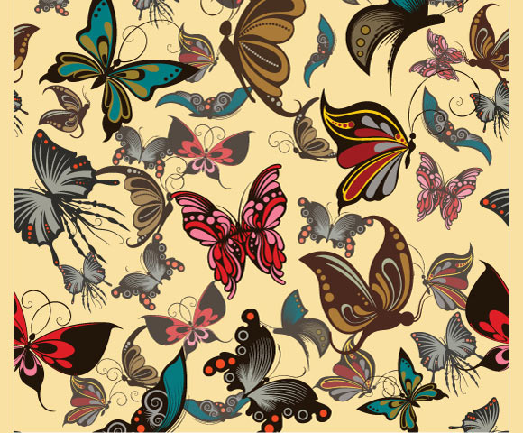 40 Beautiful Butterflies Vector