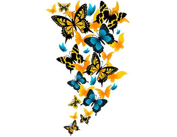 40 Beautiful Butterflies Vector | DesignFollow