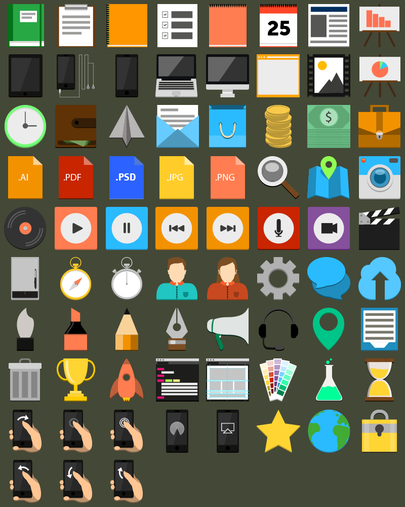 Exclusive Icon Set For DesignFollow