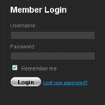Pretty Sliding Login Panel With MooTools-jQuery