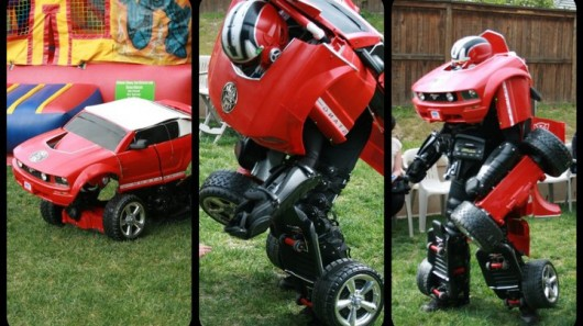 Drive Suits are life-size Transformers-inspired costumes, with motorized wheels that allow...