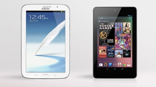 We compare the specs - and other features - of the Samsung Galaxy Note 8.0 and Google/Asus...