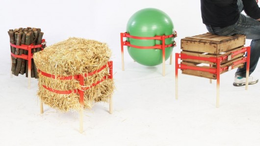 The Stooler allows almost anything to be converted into a chair