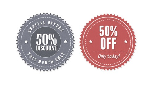 Vintage Discount Stickers